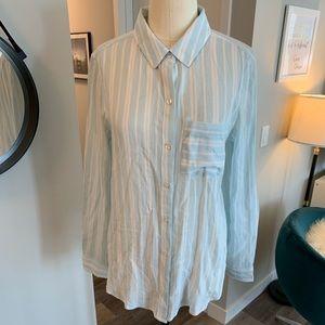 Tops - Abound - fresh linen, light button up